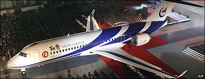 ARJ21-700在上海總裝下線