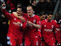 Middlesbrough celebrate their goal