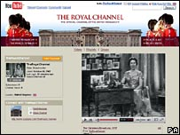 YouTube英國王室頻道網頁