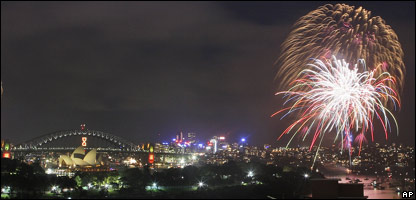 New Year's fireworks in Sydney, Australia