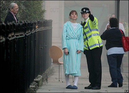 Royal Marsden patient being directed by a police officer