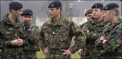 Prince William with Army officers