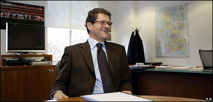 Fabio Capello at the Football Association headquarters