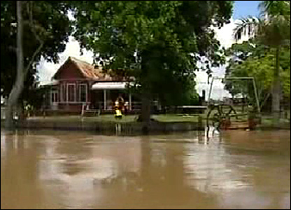 Flooding near a house
