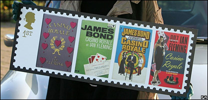 One of the James Bond stamps