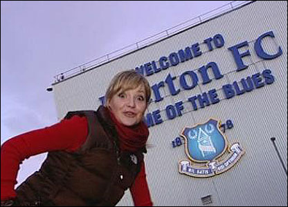 Helen checks out Everton's stadium.
