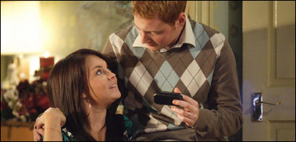 Bradley and Stacey in the EastEnders Christmas special