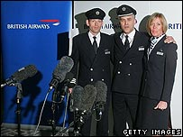 The British Airways crew