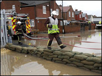 Firefighters near Toll Bar, Doncaster