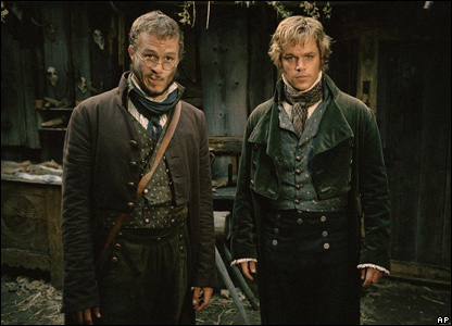 Heath Ledger and Matt Damon in the Brothers Grimm