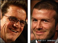 Fabio Capello and David Beckham
