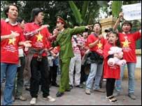 越南抗議中國在南沙和西沙群島的主權立場