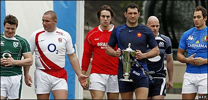 The Six Nations rugby captains
