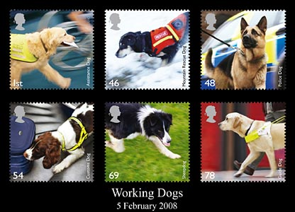 Royal Mail working dog stamps