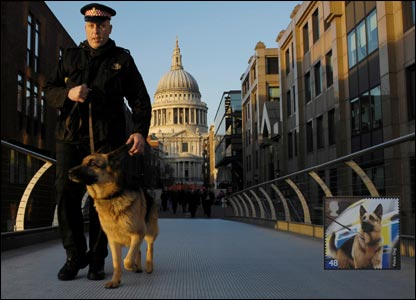 Max, a German Shepherd serving with the City of London police