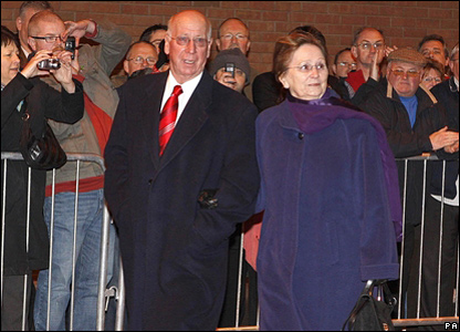 Sir Bobby Charlton and his wife Lady Norma Charlton