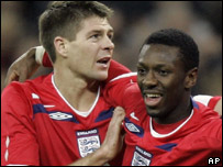 Steven Gerrard and Shaun Wright Phillips