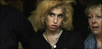Amy Winehouse, in January