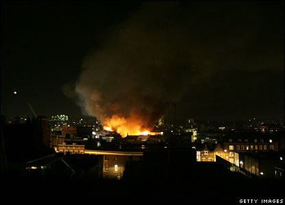 Part of London's Camden Market - which is big with visitors to the capital - went up in flames on Saturday. The fire could be seen for miles around.
