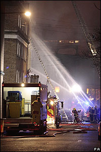 Shops, pubs and market stalls were affected by the blaze. People were moved out of nearby houses for safety reasons.