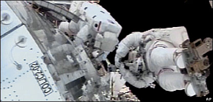 During the spacewalk