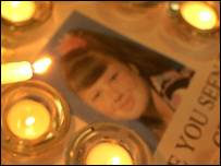 Candles and a picture of Shannon