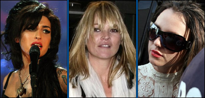 Amy Winehouse, Kate Moss and Britney Spears
