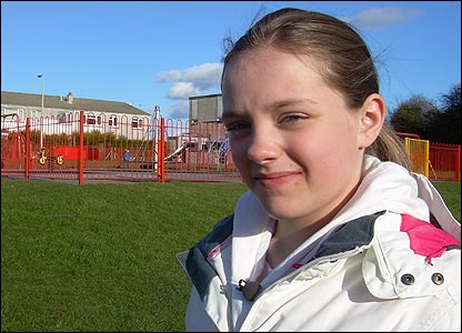 Abbey used to play with her friends in this local park near where she lives just outside Bridgend in South Wales.