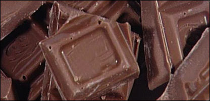 Chunks of chocolate