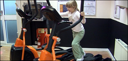 Girl exercising  (Pics Inside Out BBC London)