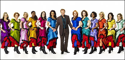 I'd Do Anything presenter Graham Norton with the final 12 Nancy hopefuls