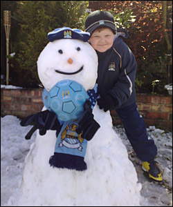 Jack with his new mate Snowey