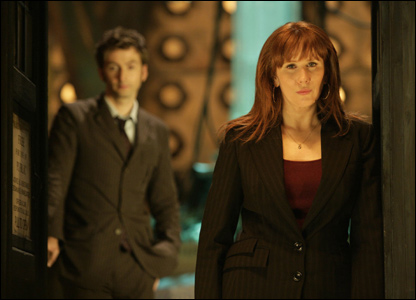 David Tennant as the Doctor and Catherine Tate as Donna  (Photo BBC/Adrian Rogers)