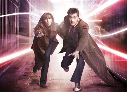 Catherine Tate as Donna, and David Tennant as the Doctor