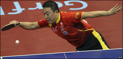 China's Ma Lin in action