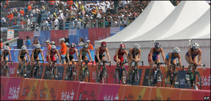 Triathlon athletes in Beijing