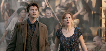 David Tennant as The Doctor and Catherine Tate as Donna.
