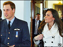 Prince William with his girlfriend Kate Middleton