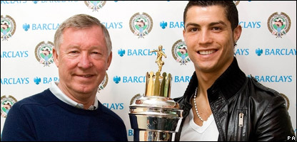 Sir Alex Ferguson with Cristiano Ronaldo