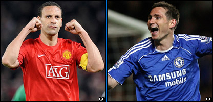 Rio Ferdinand and Frank Lampard