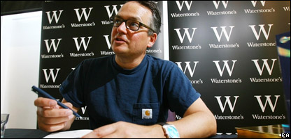 Author Charlie Higson at a Young Bond book signing