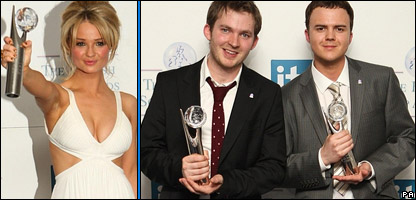 Emma Rigby, who plays Hannah Ashworth, and Matt Littler and Darren Jon Jeffries - Max and OB