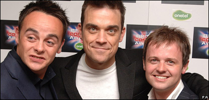 Ant, Robbie Williams and Dec