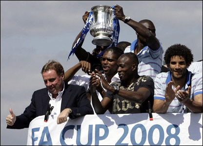 The FA Cup parade in Portsmouth