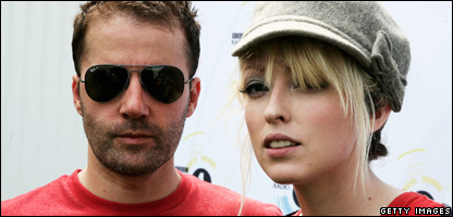 Jules De Martino and Katie White from the Ting Tings