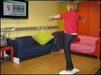 NR's Laura tries out the Wii Fit game