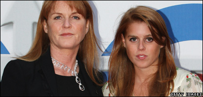 Sarah, Duchess of York and her daughter Princess Beatrice