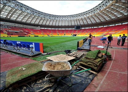 The Luzhniki Stadium pitch