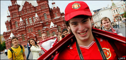 Man United fan in Moscow