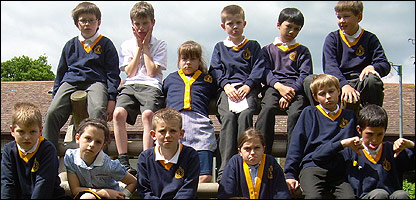 Pupils at the school with no playing field